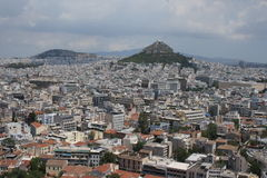 Mount Lycabettus Stock Photography