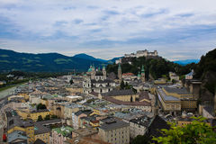 Mount Mönchsberg - Hohensalzburg fortress Royalty Free Stock Images