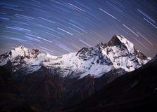 Mount Machapuchare, Nepal Himalayas Stock Photo