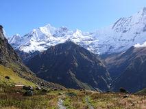 Mount Machhapuchchhre from Annapurna Base Camp Royalty Free Stock Images