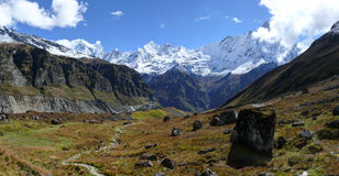Mount Machhapuchchhre from Annapurna Base Camp Stock Image