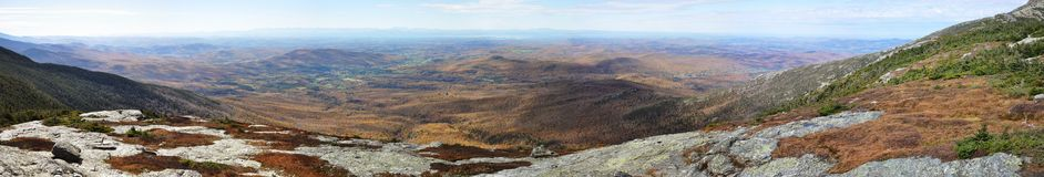 Mount Mansfield panorama Stock Photography