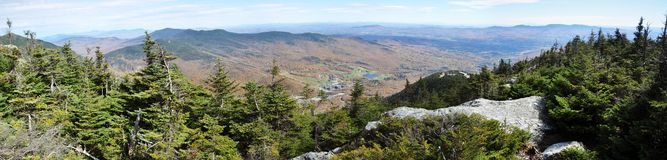 Mount Mansfield panorama Royalty Free Stock Image