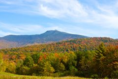 Mount Mansfield in Vermont. Mount Mansfield from Cambridge, Vermont this fall Stock Images