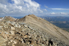 Mount Massive Summit Ridge. The summit ridge up to the second highest peak in Colorado Mount Massive Royalty Free Stock Photo