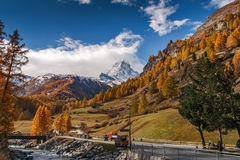 Mount Matterhorn from Zermatt Stock Photography