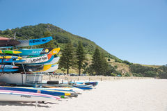 Mount Maunganui beach scenes. Royalty Free Stock Images
