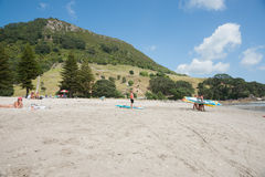 Mount Maunganui beach scenes. Royalty Free Stock Photography