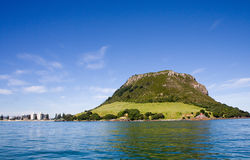 Mount Maunganui, New Zealand. Mount Maunganui, a popular holiday destination in New Zealand on a bright sunny morning Royalty Free Stock Photo