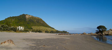 Mount Maunganui oblong. Stock Image