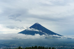 Mount Mayon, Philippines. The most active and most perfect cone shape volcano in Philippines Stock Photos