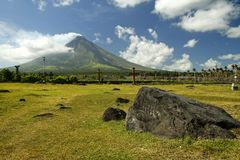 mount mayon volcano landscape philippines Stock Images