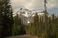 Mount Robson, Canadian Rockies, Canada Royalty Free Stock Images