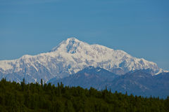 Mount McKinley with clear blue sky Stock Photos