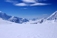Mount McKinley. Climbing to Mount McKinley, view back Royalty Free Stock Images