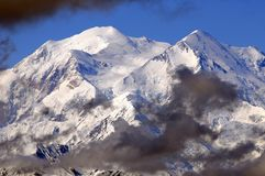 Mount McKinley (Denali). Mt. McKinley (Denali) Mountain in the Early Morning Royalty Free Stock Photos