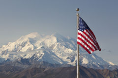 Mount mckinley flag Stock Image