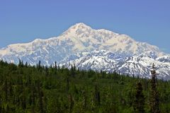 Mount Mckinley or Mount Denali, Alaska Stock Image