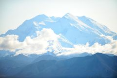 Mount McKinley snow-capped peak close-up Royalty Free Stock Images