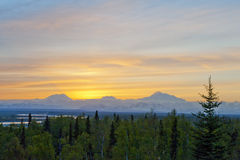 Mount McKinley sunset Royalty Free Stock Images