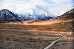 Mount McKinleys snowy peak, Denali NP, Alaska, US Royalty Free Stock Photo