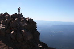Mount McLaughlin Oregon summit. On the summit you're on top of the world Stock Photos