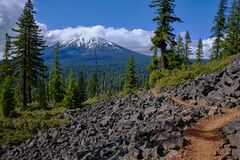 Mount McLoughlin, Oregon from scenic section of Pacific Crest Trail