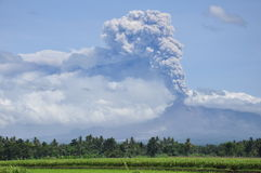 Mount Merapi eruption Stock Photo
