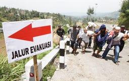Mount merapi eruption refugees Royalty Free Stock Image