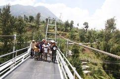 Mount merapi eruption refugees Royalty Free Stock Photos