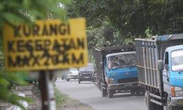 Mount merapi eruption refugees Royalty Free Stock Photo