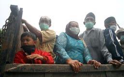 Mount merapi eruption refugees Stock Images