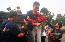 Mount merapi eruption refugees Stock Photos