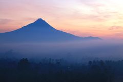 Mount Merapi Volcano Indonesia Royalty Free Stock Photography
