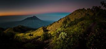 Mount Merbabu in Java Stock Image