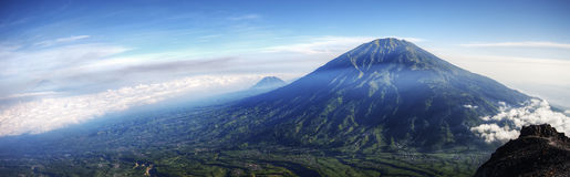 Mount Merbabu Panorama Stock Image