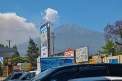 Mount Meru seen from Arusha Town, Tanzania royalty free stock photography
