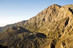 Mount Meru. Mt Meru and ash cone at sunrise. Tanzania. Africa. Rhino Point royalty free stock image