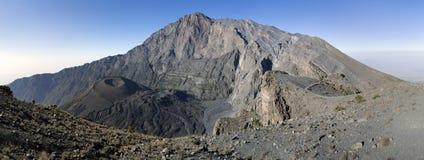 Mount Meru. Mt Meru and ash cone. Tanzania. Africa. Rhino Point royalty free stock images