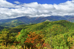 Mount Mitchell and Clouds. Mount Mitchell, Blue Ridge Parkway, North Carolina Royalty Free Stock Photo