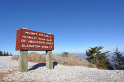 Free Mount Mitchell Sign At Highest Peak In Eastern US Stock Photos - 29308393