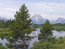 Mount Moran 2. Mount Moran, Grand Tetons, Wyoming Stock Photos