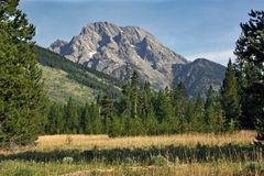Mount Moran. In Grand Teton National Park Stock Photography