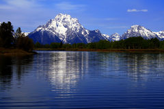 Mount Moran. At Oxbow Bend, Grand Teton National Park, Wyoming Stock Photo
