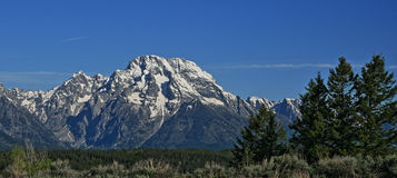 Mount Moran of the Grand Tetons mountain range in the spring / summer in Wyoming Stock Photography