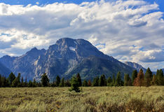 Mount Moran in late summer Stock Photography