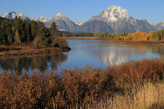 Mount Moran Morning Stock Images