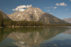 Mount Moran Reflection Royalty Free Stock Photos