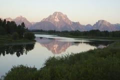 Mount Moran scenic Stock Image