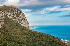 Mount Mshatka-Kayasy in Foros. The south coast of Crimea royalty free stock images